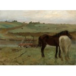 Puzzle  Grafika-01770 Edgar Degas: Horses in a Meadow, 1871