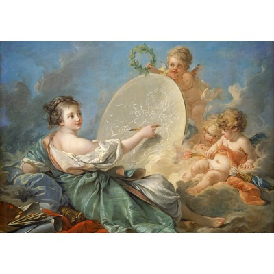 Puzzle Grafika-01794 François Boucher: Allegory of Painting, 1765