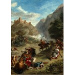 Puzzle  Grafika-01802 Eugène Delacroix: Arabs Skirmishing in the Mountains, 1863