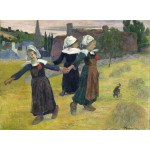 Puzzle  Grafika-01830 Paul Gauguin: Breton Girls Dancing, Pont-Aven, 1888