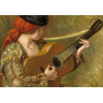 Puzzle  Grafika-01868 Auguste Renoir: Young Spanish Woman with a Guitar, 1898