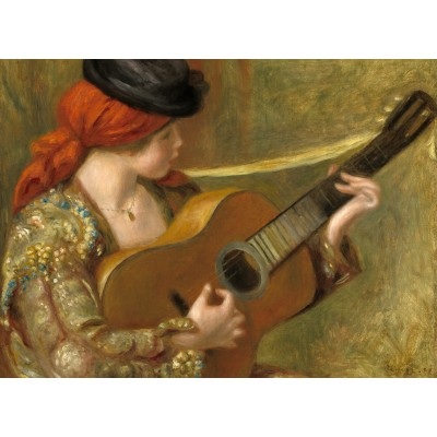 Puzzle Grafika-01869 Auguste Renoir: Young Spanish Woman with a Guitar, 1898