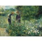 Puzzle  Grafika-01891 Auguste Renoir: Picking Flowers, 1875
