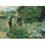 Puzzle  Grafika-01893 Auguste Renoir: Picking Flowers, 1875