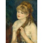 Puzzle  Grafika-01894 Auguste Renoir: Young Woman Braiding Her Hair, 1876