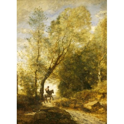 Puzzle Grafika-01958 Jean-Baptiste-Camille Corot: The Forest of Coubron, 1872