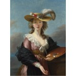 Puzzle  Grafika-02172 Elisabeth Vigée-Lebrun: Self-portrait in a Straw Hat, 1782