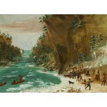 Puzzle  Grafika-02224 George Catlin: The Expedition Encamped below the Falls of Niagara. January 20, 1679, 1847-1848