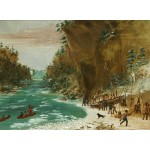 Puzzle   George Catlin: The Expedition Encamped below the Falls of Niagara. January 20, 1679, 1847-1848