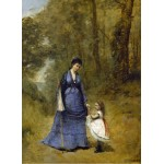 Puzzle   Jean-Baptiste-Camille Corot: Madame Stumpf and Her Daughter, 1872