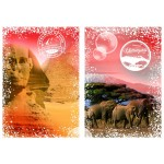 Puzzle  Grafika-T-00205 Travel around the World - Afrika, Ägypten und Kenia