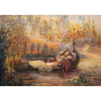 Puzzle Grafika-T-00261 Josephine Wall - Dreams of Camelot