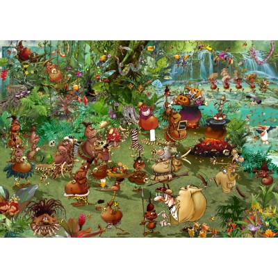 Puzzle Grafika-T-00938 Tribal Safari