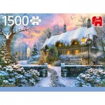Puzzle  Jumbo-18830 Whitesmith's Cottage in Winter