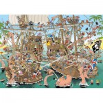 Puzzle  Jumbo-19204 Pieces of History - Die Piraten