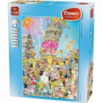Puzzle  King-Puzzle-05187 Comic Collection - Turm von Pisa