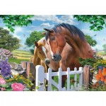 Puzzle  King-Puzzle-05388 Horses at the Gate