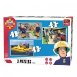 King-Puzzle-05587 3 Puzzles - Fireman Sam