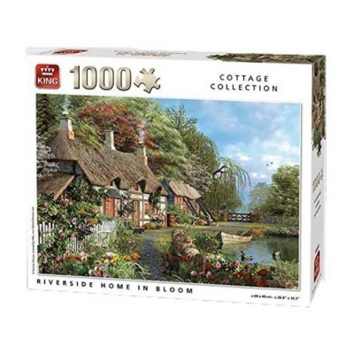 Puzzle King-Puzzle-05718 Riverside Home in Bloom