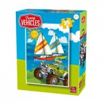 Puzzle  King-Puzzle-05775-C Funny Vehicles