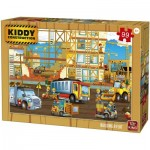 Puzzle  King-Puzzle-55837 Kiddy Construction - Building a Flat