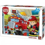 Puzzle  King-Puzzle-55839 Rescue Team - Fireman in Garage
