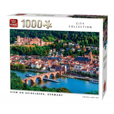 Puzzle King-Puzzle-55850 View of Heidelberg