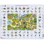 Larsen-EN5-GB Rahmenpuzzle - Learning English 5: Tiere