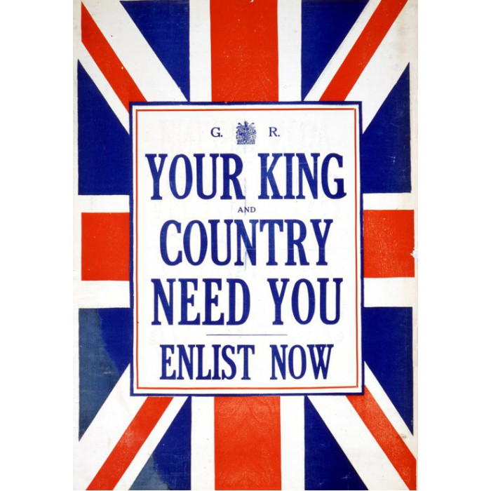 grafika-your-king-and-country-need-you-enlist-now-