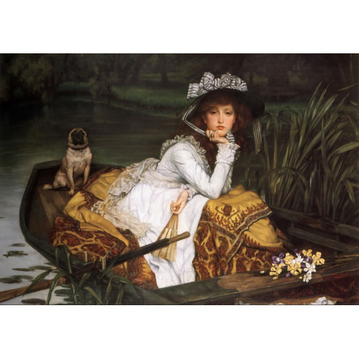 Grafika James Tissot: Young Lady in a Boat