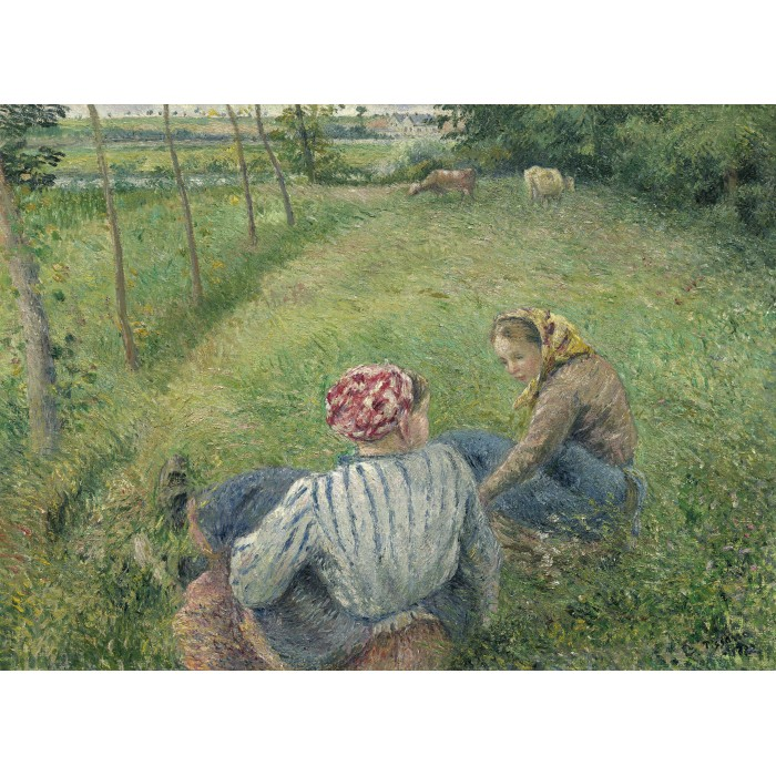 grafika-camille-pissarro-young-peasant-girls-resting-in-the-fields-near-pontoise-1882