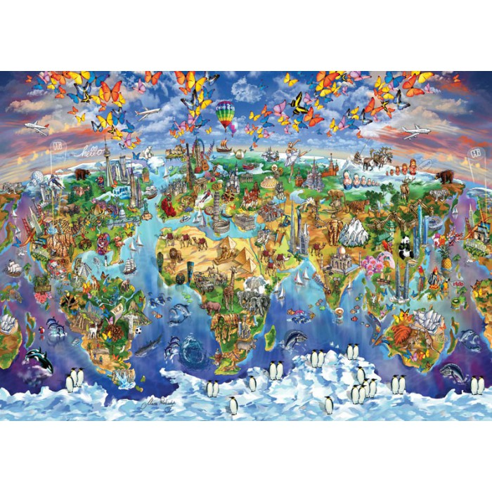 art-puzzle-world-wonders-illustrated-map