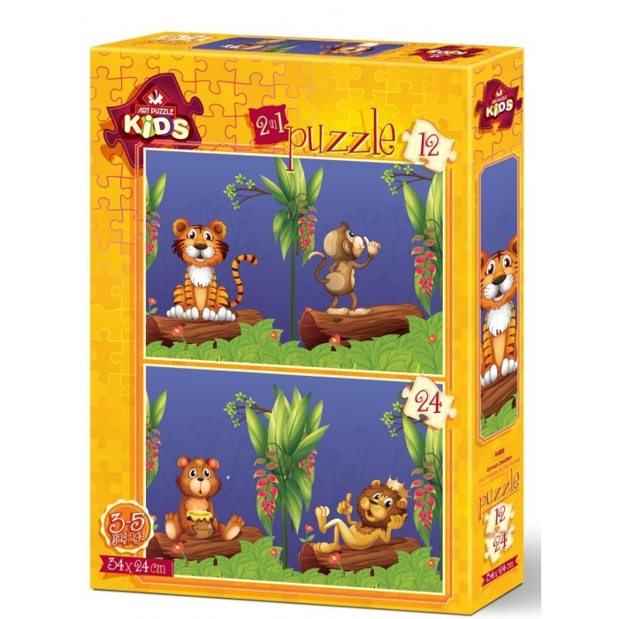 art-puzzle-2-puzzles-the-friends-in-the-forest