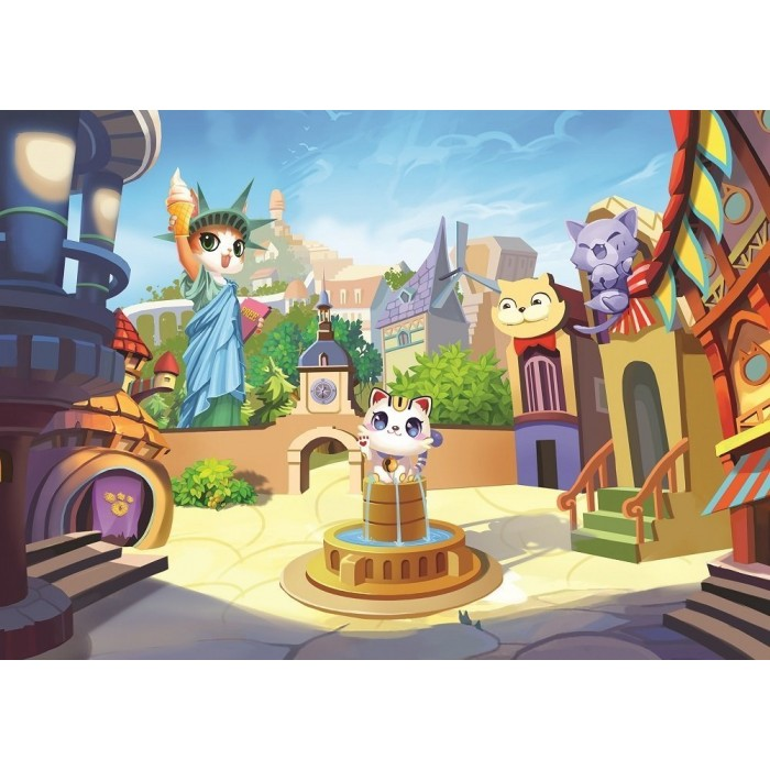 art-puzzle-the-kitty-town