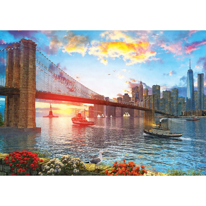 art-puzzle-sunset-in-new-york