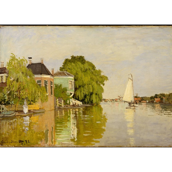 grafika-kids-magnetische-teile-claude-monet-houses-on-the-achterzaan-1871