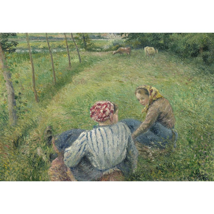 grafika-kids-camille-pissarro-young-peasant-girls-resting-in-the-fields-near-pontoise-1882