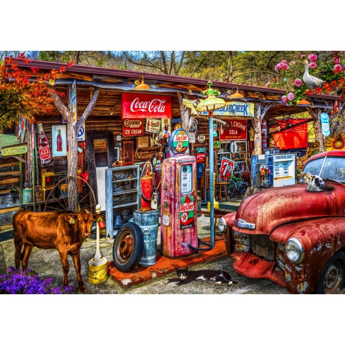bluebird-puzzle-on-the-back-roads-in-the-country, 9.95 EUR @ planet-puzzles-deutschland