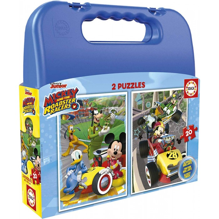 educa-2-puzzles-mickey-roadster-racers