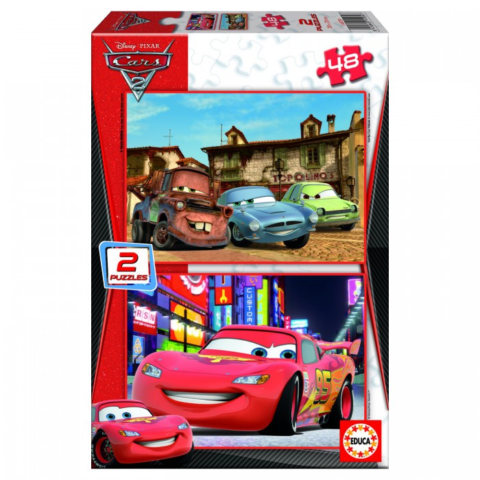 educa-puzzle-2-x-48-teile-aus-holz-cars-2-piston-cup-und-radiator-springs