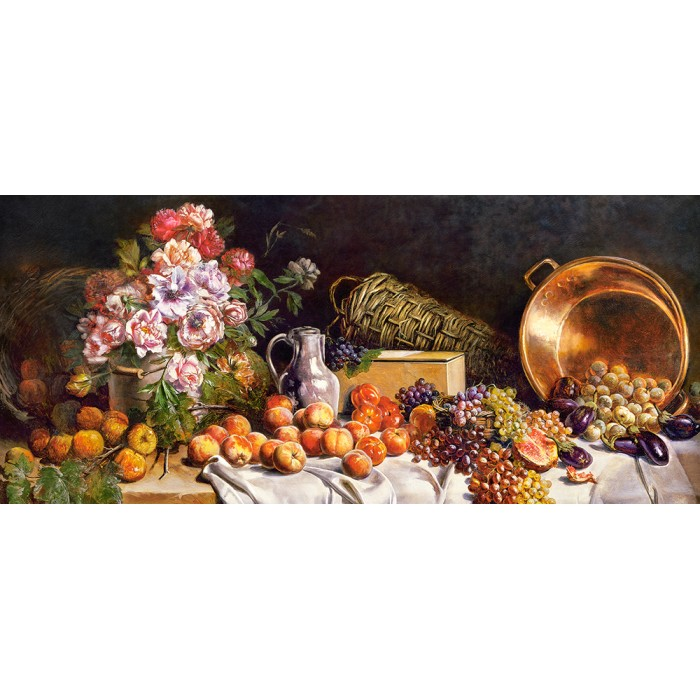 castorland-still-life-with-flowers-and-fruit-on-a-table