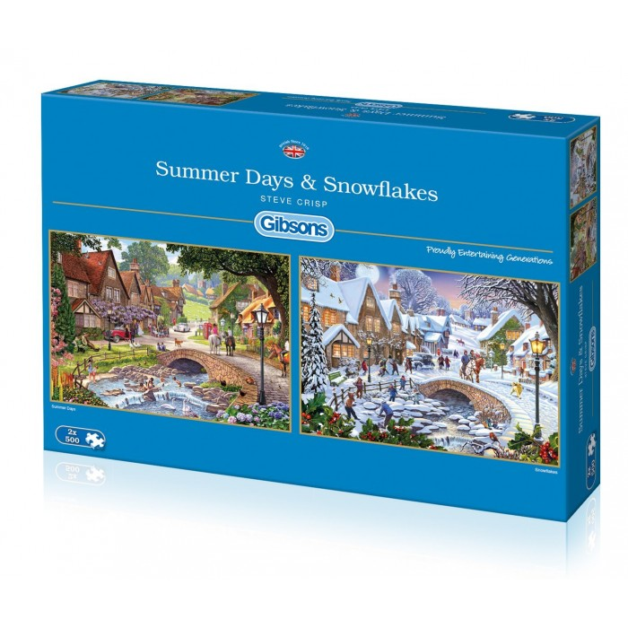 gibsons-2-puzzles-steve-crisp-summer-days-snowflakes