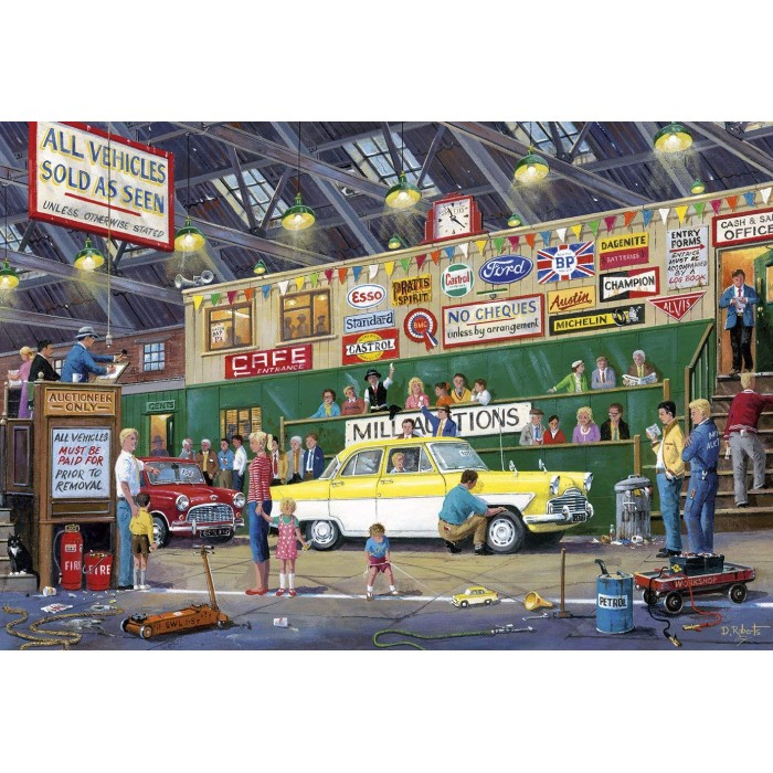 gibsons-xxl-teile-going-once-going-twice, 9.86 EUR @ planet-puzzles-deutschland