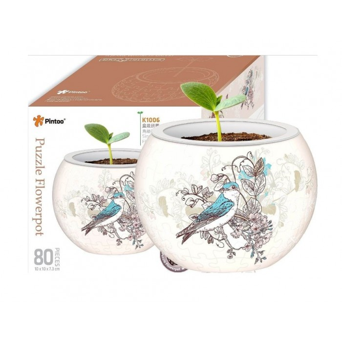 pintoo-3d-puzzle-flower-pot-singing-birds-and-flowers