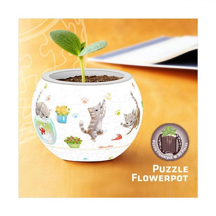 pintoo-3d-puzzle-flower-pot-cat-s-play-time