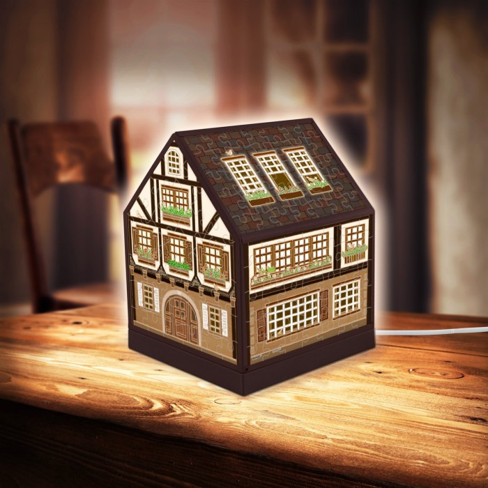 pintoo-3d-puzzle-house-lantern-half-timbered-house