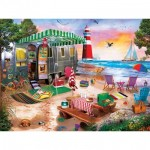 Puzzle  Master-Pieces-32119 Oceanside Camping