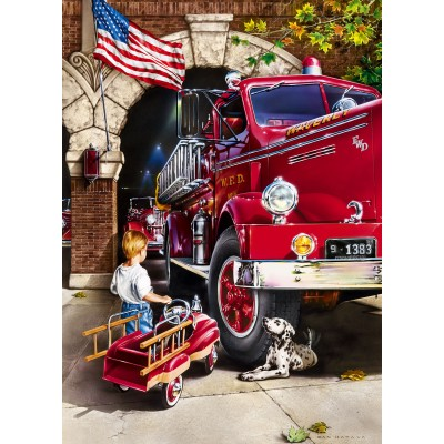 Puzzle Master-Pieces-71630 Firehouse Dreams