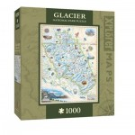 Puzzle  Master-Pieces-71704 Xplorer Maps - Glacier
