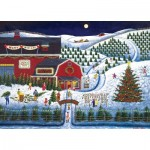 Puzzle   Holiday Moonlit Evergreens